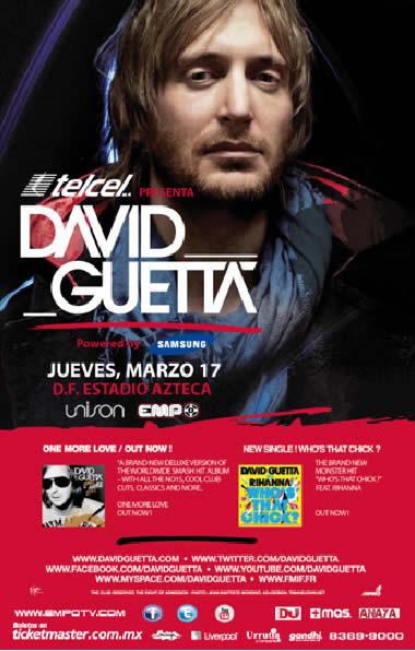 DAVID GUETTA en México - 17 Marzo 2011