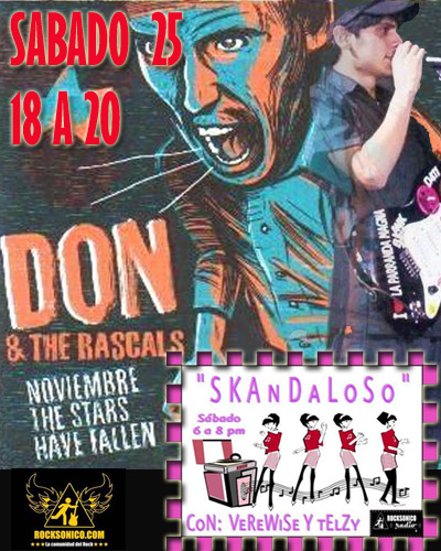 DON & THE RASCALSEntrevista en Skandaloso Sabado 25 Octubre,