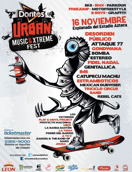 DORITOS URBAN MUSIC & EXTREME FEST16 Noviembre, explanada estadio Azteca,