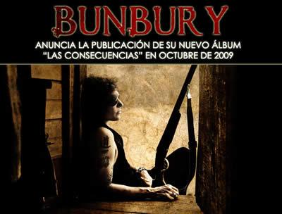 ENRIQUE BUNBURYanuncia publicación de su nuevo álbum