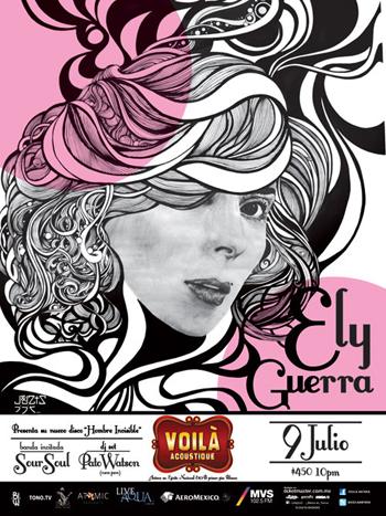 """ELY GUERRA PRESENTANDO SU NUEVO DISCO """"Hombre invisible"""" - 9 Julio,"""