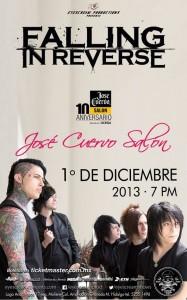 FALLING IN REVERSEGira Latinoamérica, visita 1 Diciembre México,