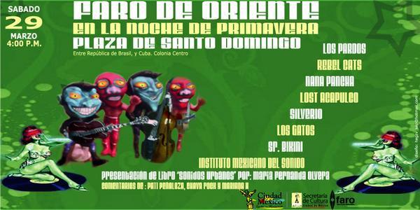 PRESENTACION DEL LIBRO SONIDOS URBANOSConcierto Masivo en la Plaza de Santo Domingo presentado por El Faro de Oriente.,