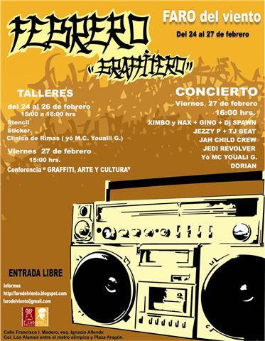 FESTIVAL  GRAFFITERO FARO DEL VIENTO, DEL 24 AL 27,