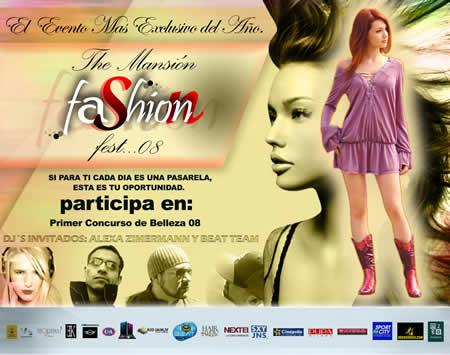 THE MANSION FASHION  FEST 08  La Fiesta más exclusiva del Año - Mansión Tepotzotlan - 13 Dic,
