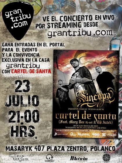 CARTEL DE SANTAPresenta Sincopa - 23 Julio