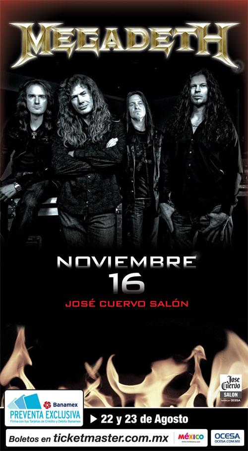 MEGADETHEn México / 16 de Noviembre /José Cuervo Salón