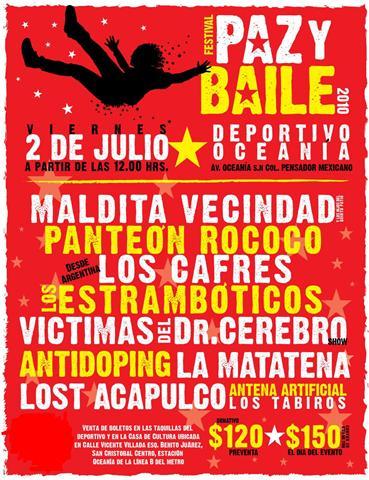 FESTIVAL PAZ Y BAILE2 de Julio - Deportivo Oceanía,
