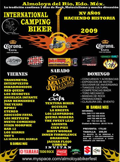 INTERNATIONAL CAMPING BIKER 2009XV AÑOS - 20 al 22 de Marzo, Almoloya