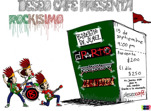 BOTELLITA DE JEREZDan el grito de 15 de septiembre  en el Deseo Café