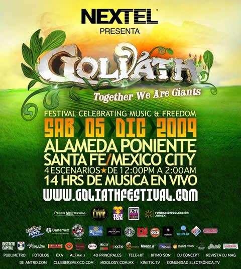 GOLIATH FESTIVAL 5 de Diciembre - Horarios
