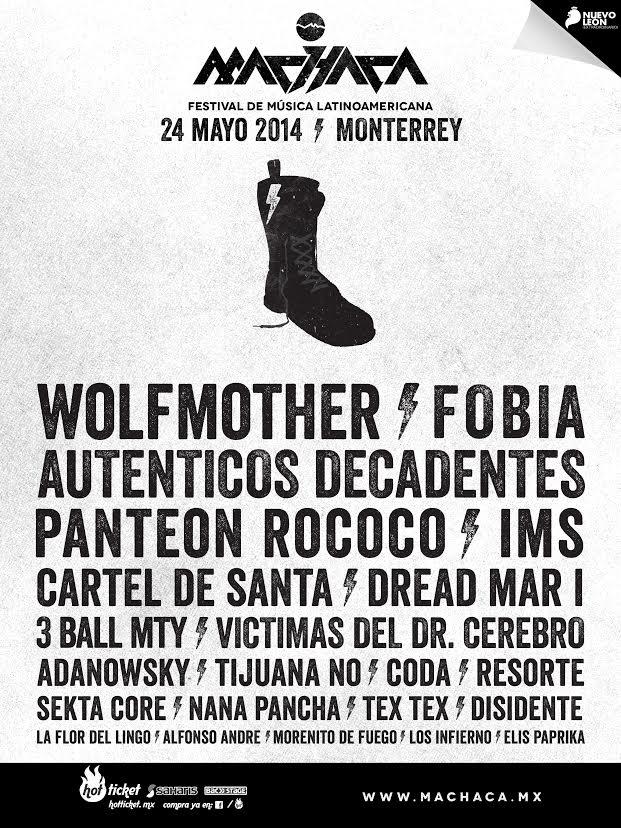 MACHACA FEST24 de Mayo, Monterrey - PAPA ROACH, WOLFMOTHER, FOBIA y más..