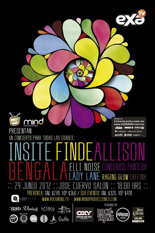 INSITE, FINDE, ALLISON, BENGALA, ELLI NOISE y MAS29 Junio - Vive Cuervo Salón