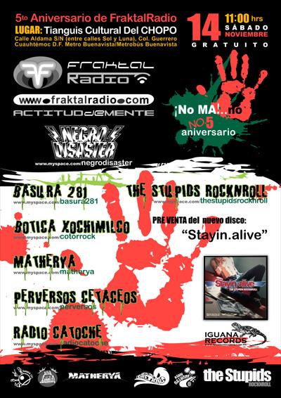 5 ANIVERSARIO DE FRAKTAL RADIOConcierto en el Chopo,