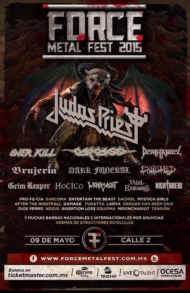 FORCE METAL FEST 2015Llega a Guadalajara - 9 de Mayo