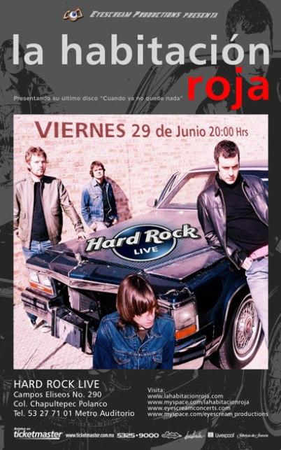 LA HABITACION ROJA Hard Rock Live