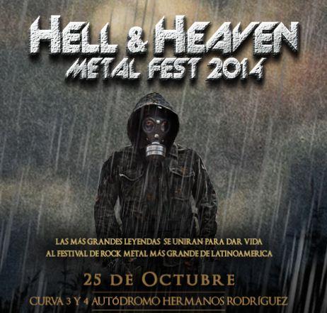 HELL & HEAVEN 201425 de Octubre - Checa el cartel