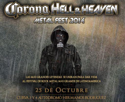HELL AND HEAVENHORARIOS - 25 de Octubre,