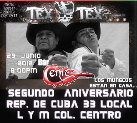 TEX TEX EN CONCIERTOSegundo aniversario Bar CENIT
