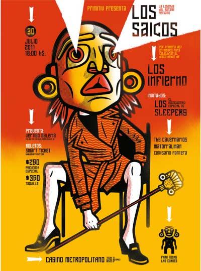 LOS INFIERNO Presentando disco junto a Los Saicos - 30 Julio