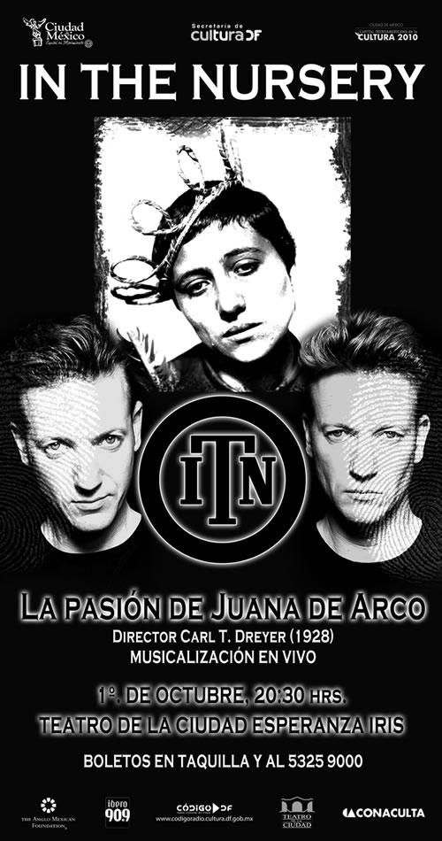 IN THE NURSERYmusicalizará en vivo LA PASIÓN DE JUANA DE ARCO - 1 de Octubre