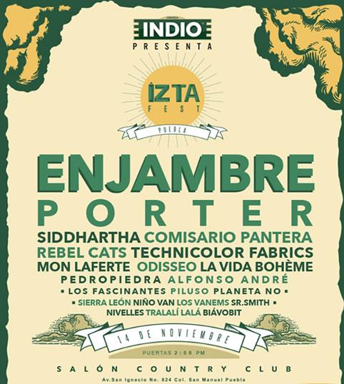 IZTAFEST 2015Enjambre, Porter, Rebel Cats, Siddhartha, Mon LaFerte y más en Puebla, Iztafest 2015 en Puebla,  Enjambre y Porter en el Iztafest de Puebla, Mucho rock en puebla con el iztafest