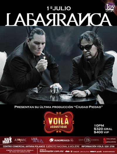 La Barranca Presenta Nuevo Material Concierto en Voilà,