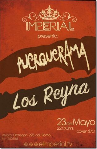 LOS REYNA EN EL IMPERIAL CLUBAcompañados de Puerquerama - 23 Mayo,