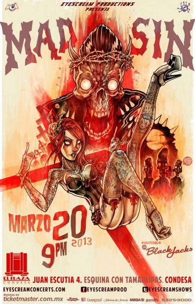 MAD SIN EN MEXICO20 de Marzo - El Plaza Condesa