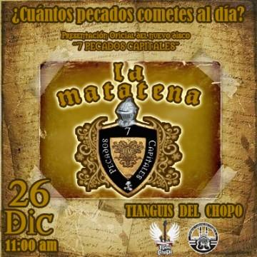 LA MATATENAPresenta nuevo disco - 26 Diciembre