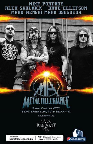 METAL ALLEGIANCESuper grupo de metal se presentan el 20 de septiembre en nuestro país