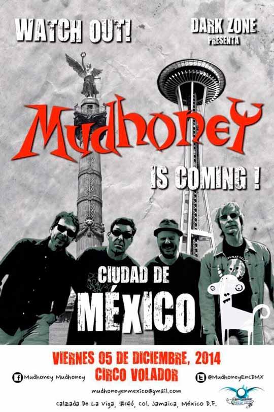 MUDHONEY EN MEXICOTras 9 años de espera - 5 - de Diciembre,