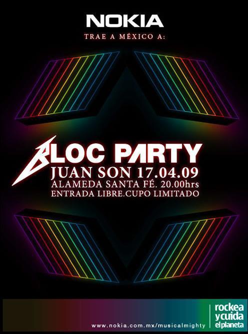 """BLOC PARTY""""Rockea y Cuida el Planeta"""""""
