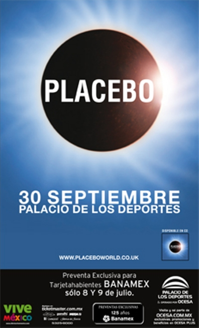 PLACEBOEn el Palacio de los Deportes - 30 Sept,