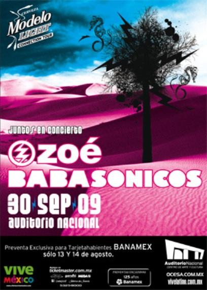 ZOE Y BABASONICOSGira por México
