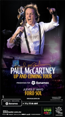 PAUL MCCARTNEYNueva fecha Foro Sol ,