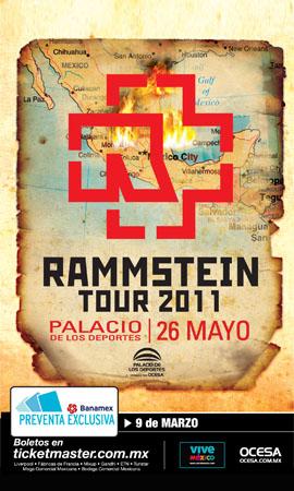 RAMMSTEINRegresa a México, 26,27, 29 y 31 de Mayo