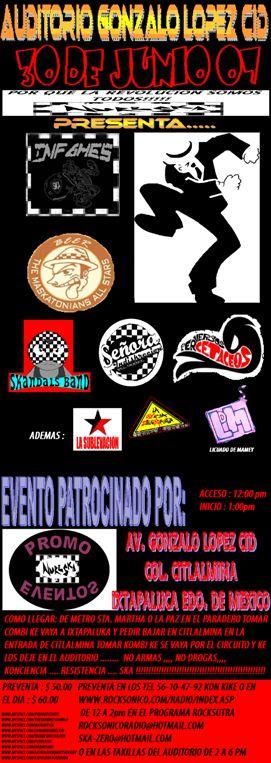 La Maskatesta, Perversos Cetaceos, Los infames entre otros30 de Junio en Ixtapaluca