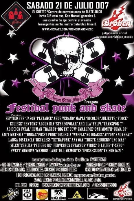 PUNK Y SKATE EN EL GHETTOFestival de skate, punk y surf