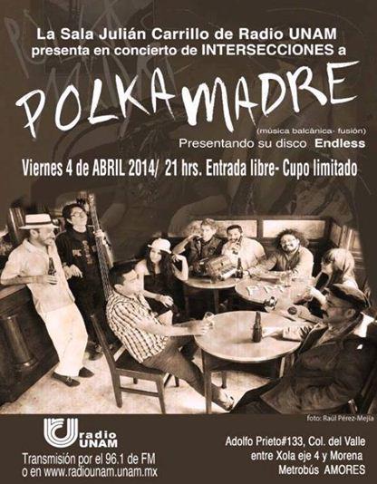 POLKA MADRE Presentando nuevo disco - 4 Abril