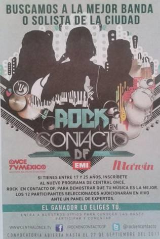 ROCK EN CONTACTO Inicia 14 de Enero, conoce a las bandas participantes,