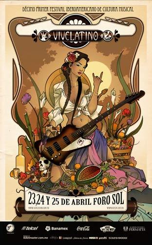 VIVE LATINO 2010CARTEL, se integra Julieta Venegas ,