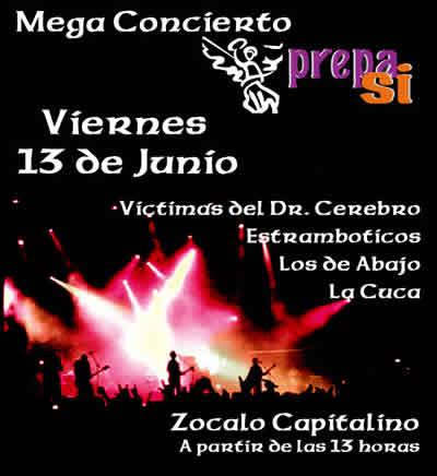 PREPA SIMega-Concierto en el Zocalo - 13 de Junio