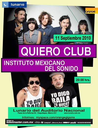 QUIERO CLUB Y EL IMSJuntos por primera vez - 11 de Septiembre,