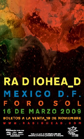 RADIOHEAD EN MEXICOFecha de venta y precios,