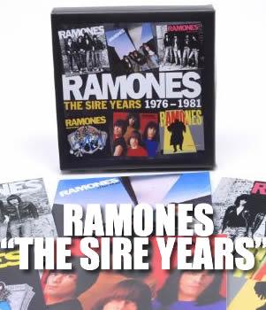 RAMONES: THE SIRE YEARS (1976-1981)Colección de discos de los Pioneros del Punk Rock,