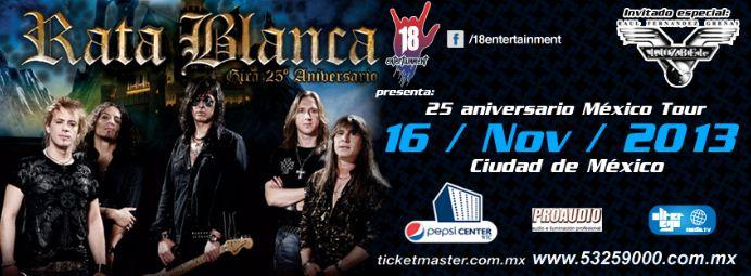 RATA BLANCAFesteja 25 años, gira por México,