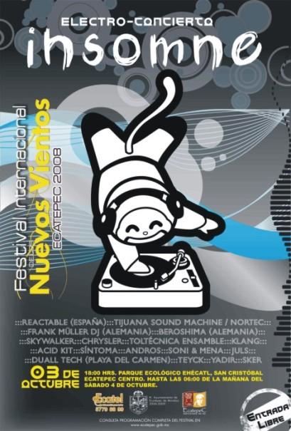 FESTIVAL INTERNACIONAL DE LOS  NUEVOS VIENTOS ECATEPEC 2008DEL 3 AL 12 DE OCTUBRE