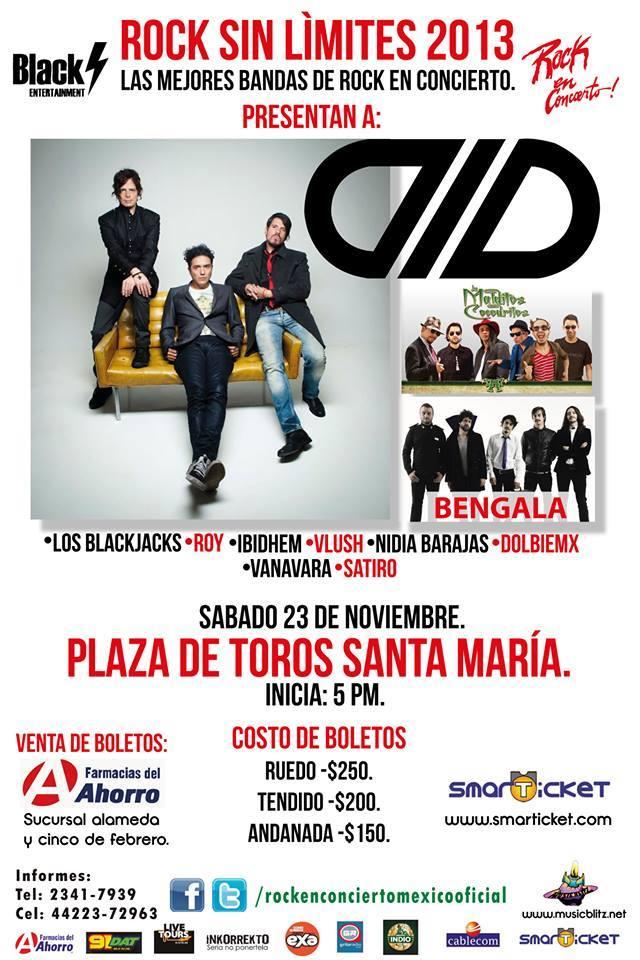 ROCK SIN LIMITES23 Noviembre, Querétaro