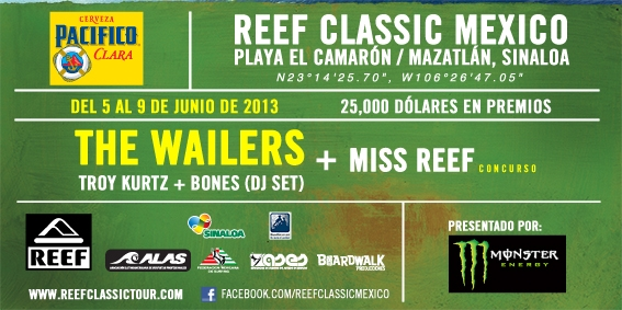REEF CLASSIC MEXICO5 AL 9 Junio en Mazatlán
